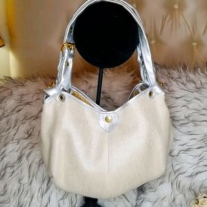 JIMMY CHOO Cream Woven Bag